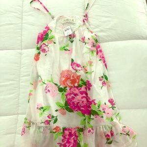 Abercrombie xs floral dress NWT